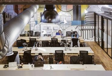 בתמונה: חלל עבודה ווי-וורק דובנוב תל אביב